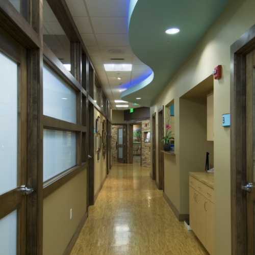 LEED certified medical office interior design by Carlson Studio Architecture